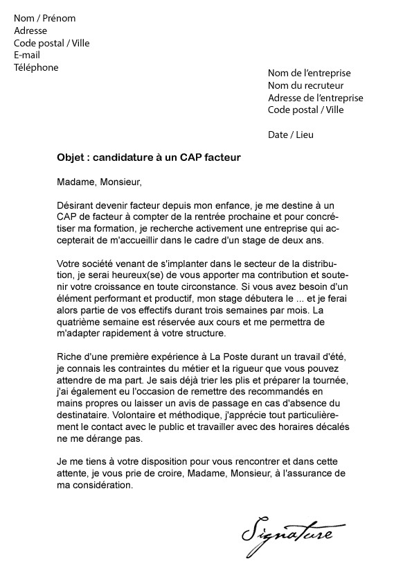 Candidature Interne Lettre De Motivation Laboite Cv Fr