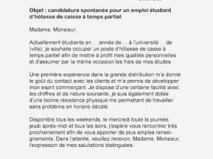 Exemple de lettre de motivation pour un job d'été étudiant - laboite-cv.fr