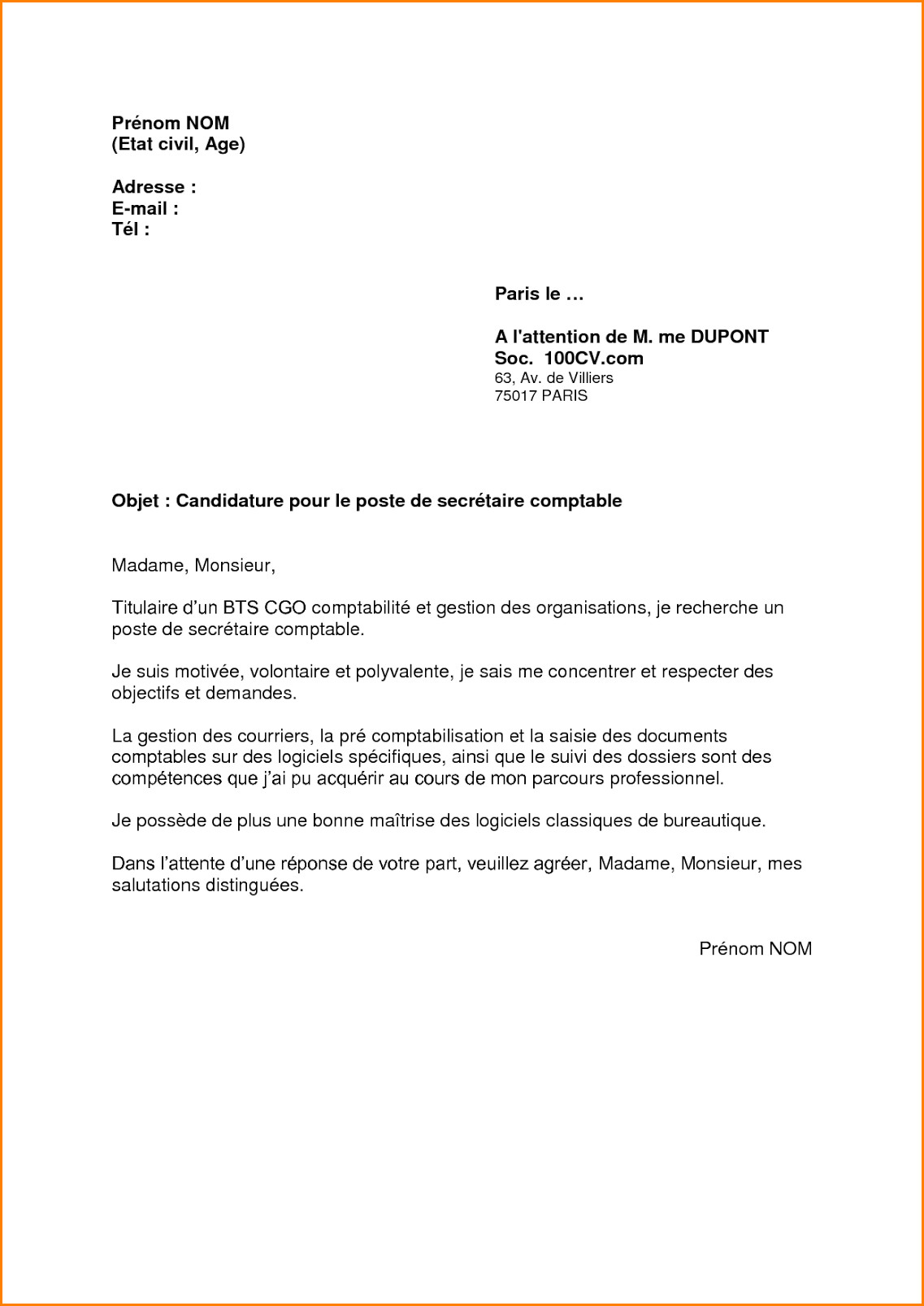 Exemple Lettre De Motivation Mobilite Laboite Cv Fr