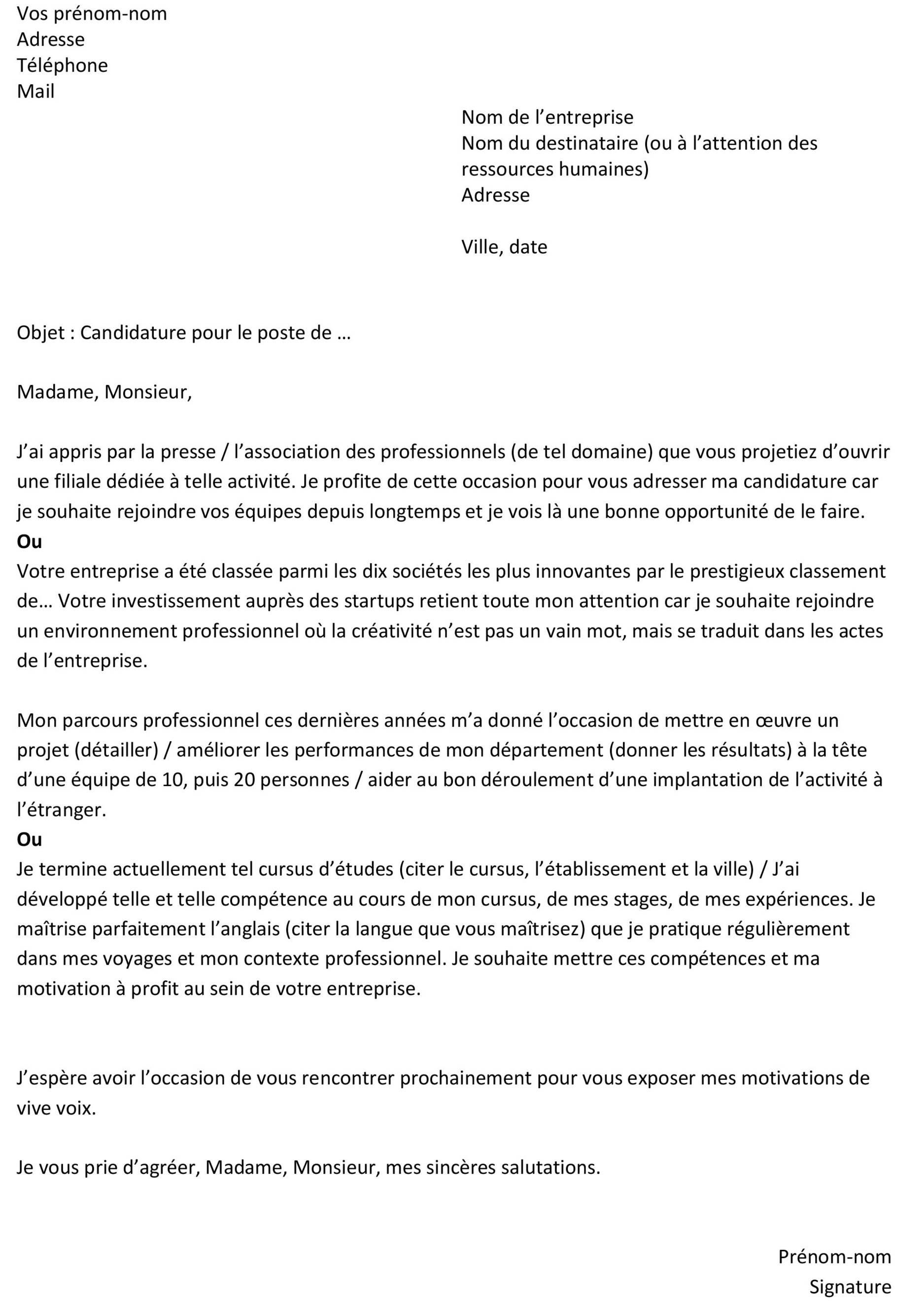 lettre de motivation demande de bourse master