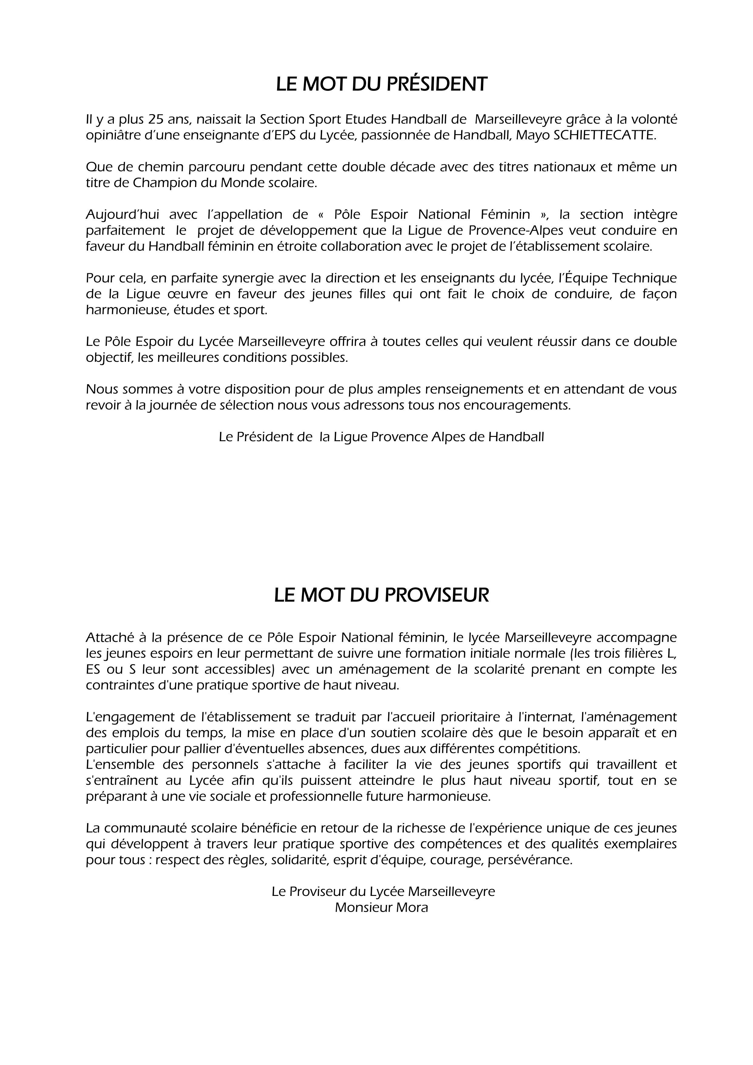lettre de motivation sport  u00e9tude handball