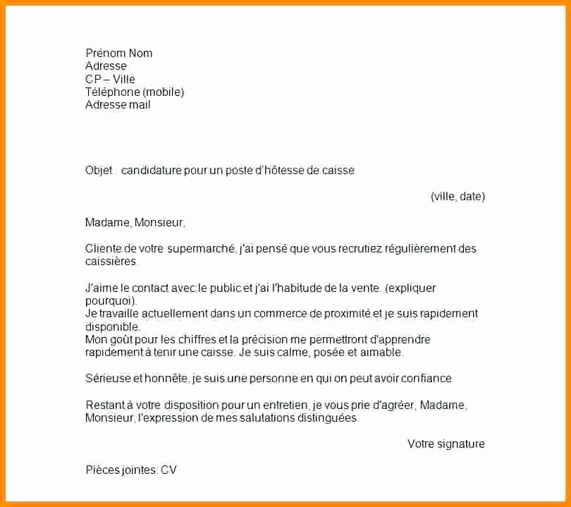 lettre de motivation hotesse de caisse auchan