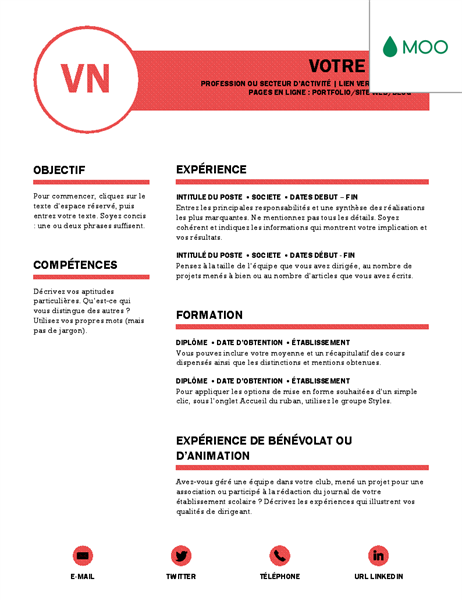 exemple de distinction dans un cv