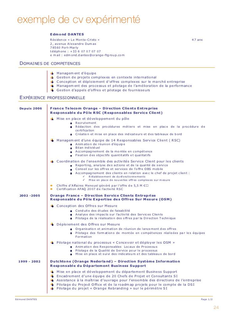 exemple de cv analyste syst u00e8me d u2019information