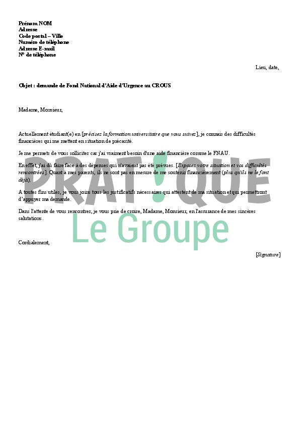 Lettre De Motivation Pour Demande D Aide Financiere Laboite Cv Fr