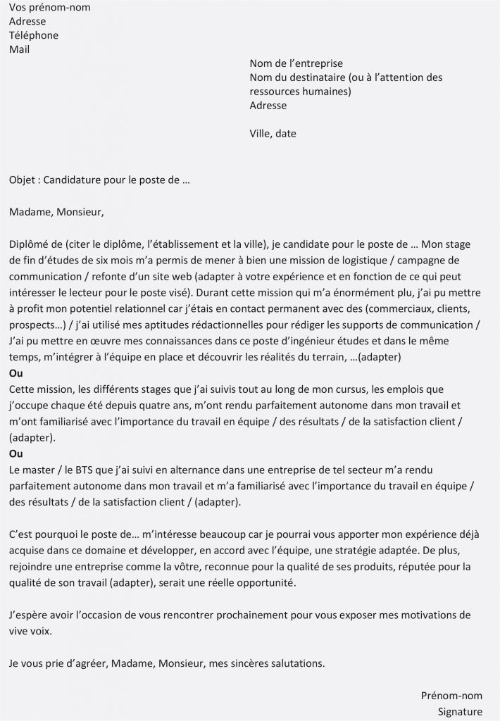 lettre de motivation deja en poste