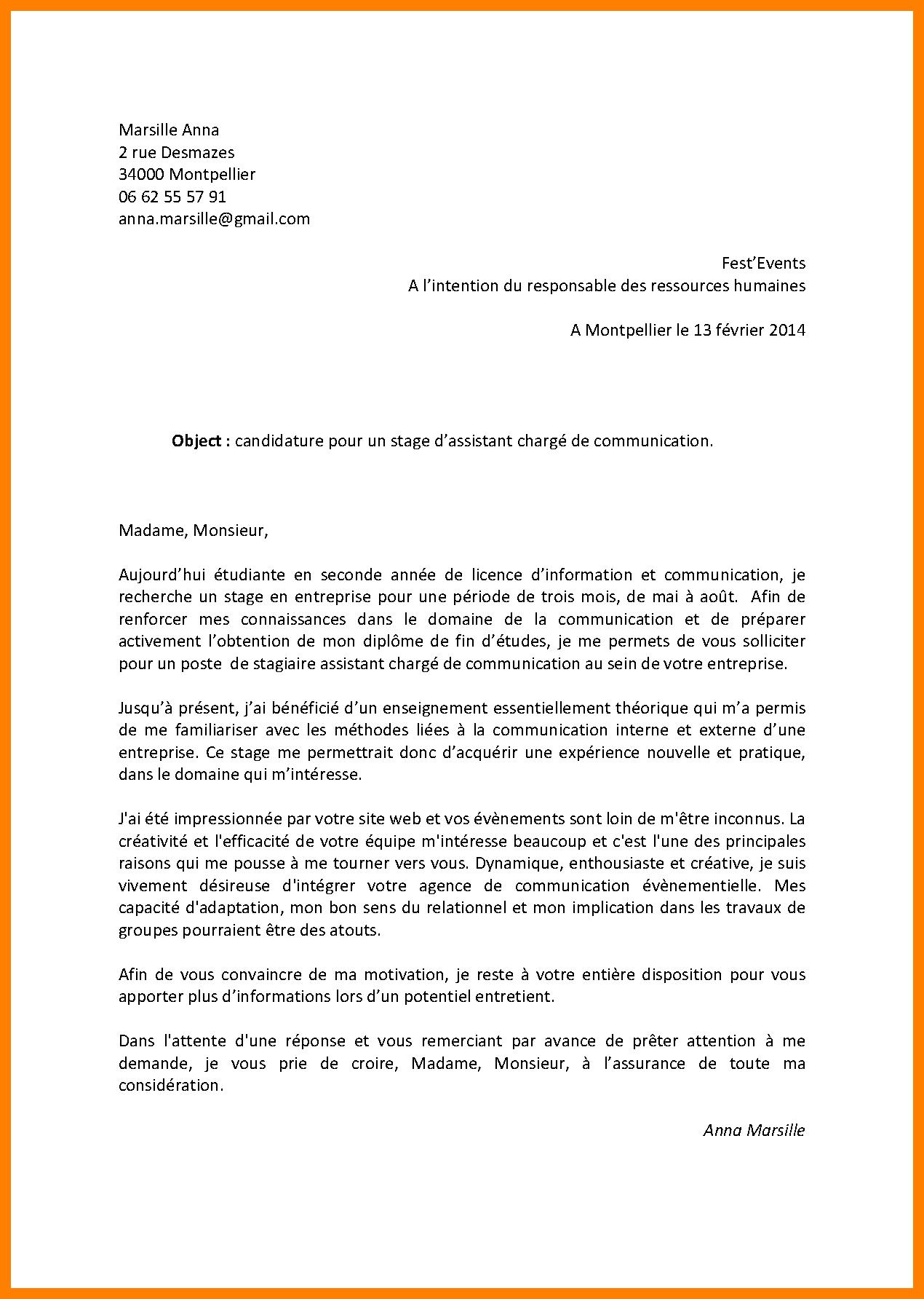 lettre de motivation securite
