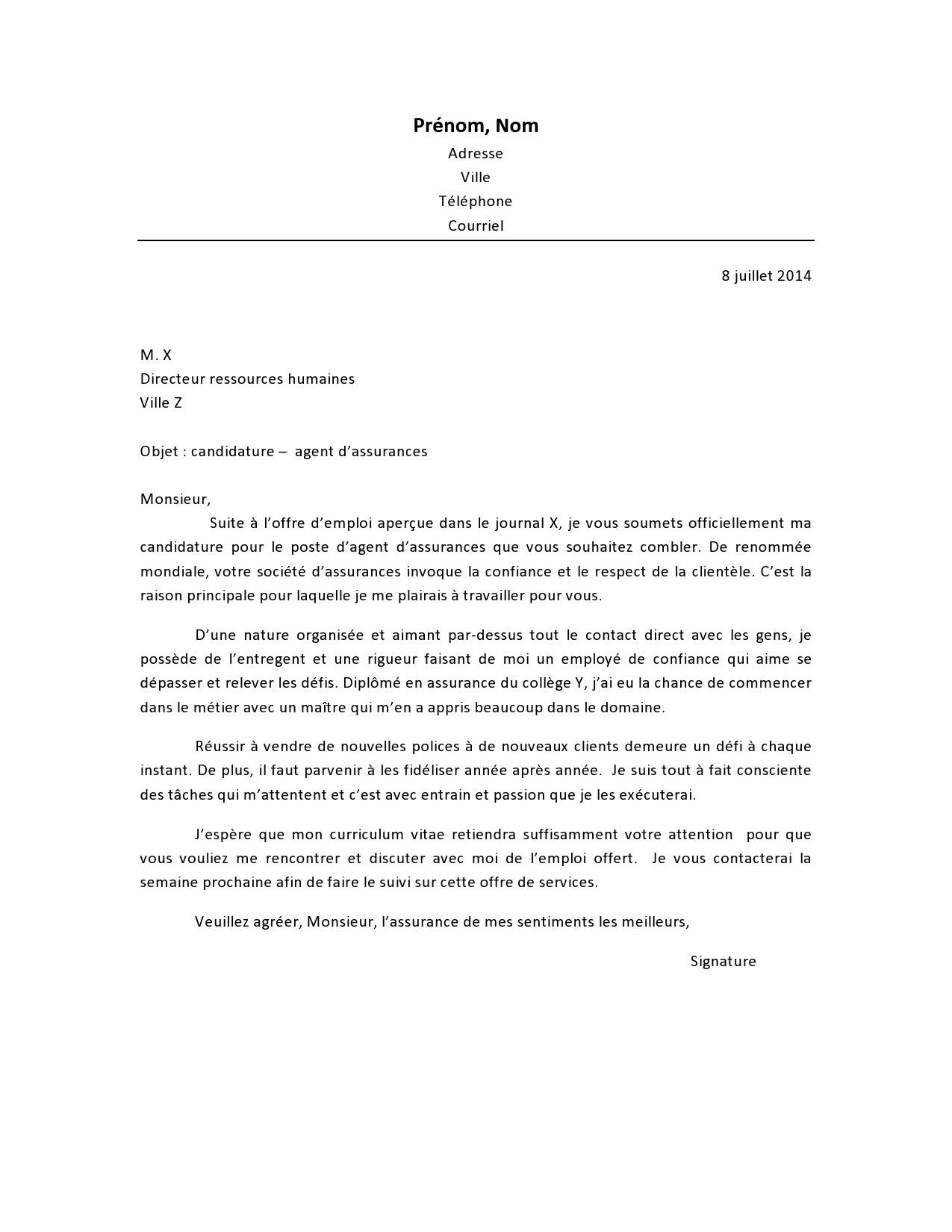 Lettre de motivation agent escale ferroviaire