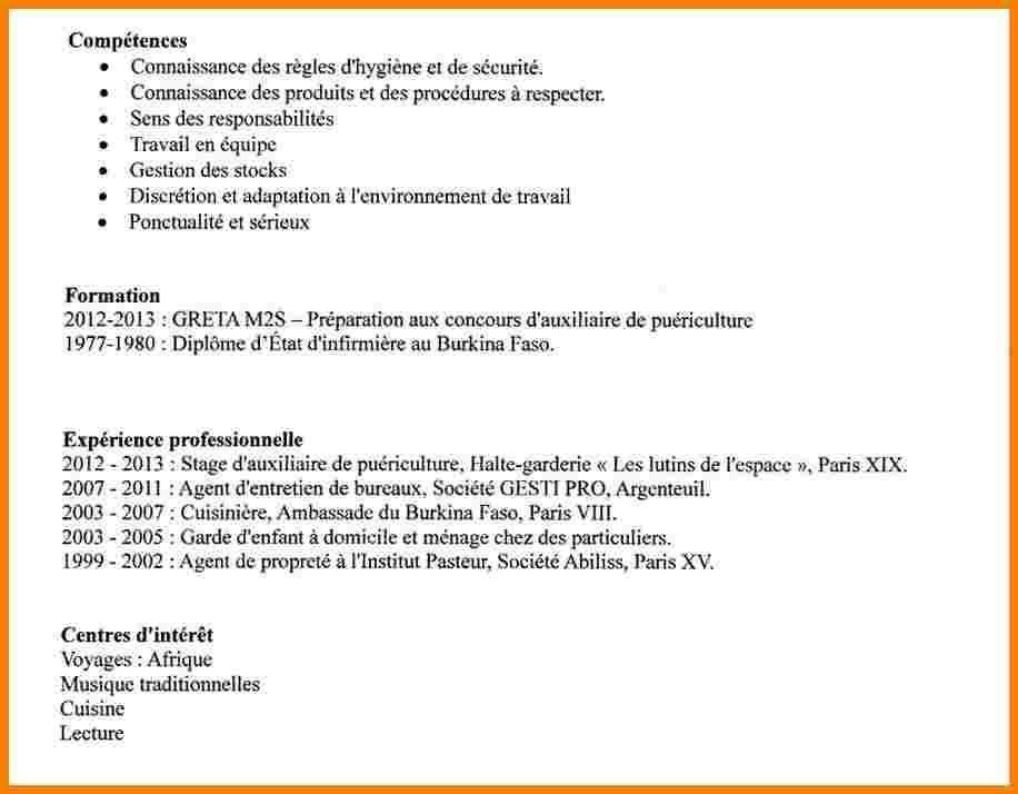 Exemple de cv pour agent de propreté - laboite-cv.fr