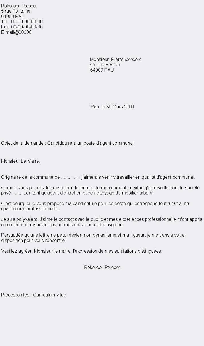 lettre de motivation agent de maintenance polyvalent