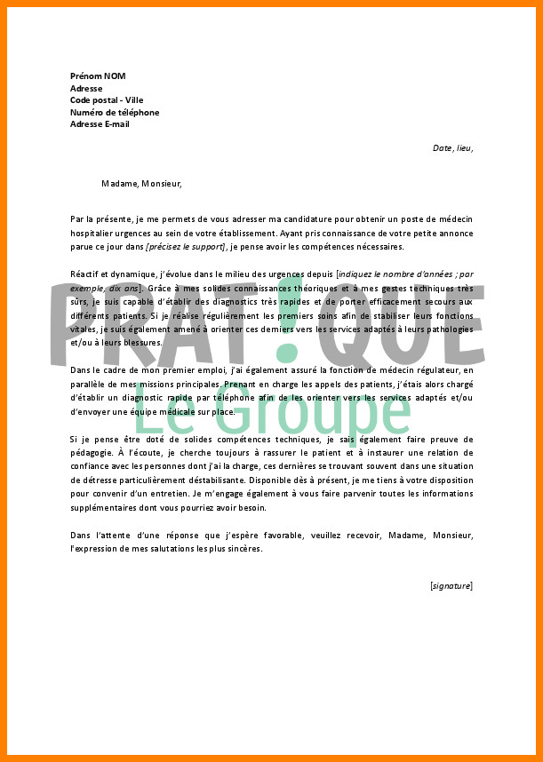 lettre de motivation hopital de jour psychiatrie