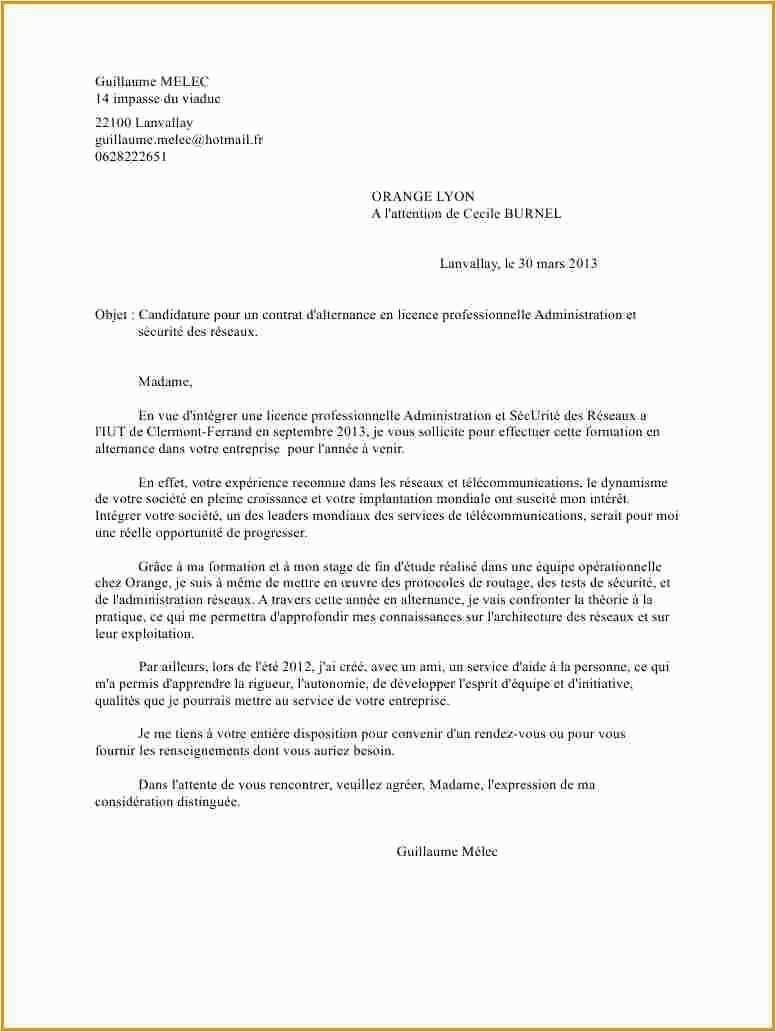 lettre de motivation licence professionnelle alternance