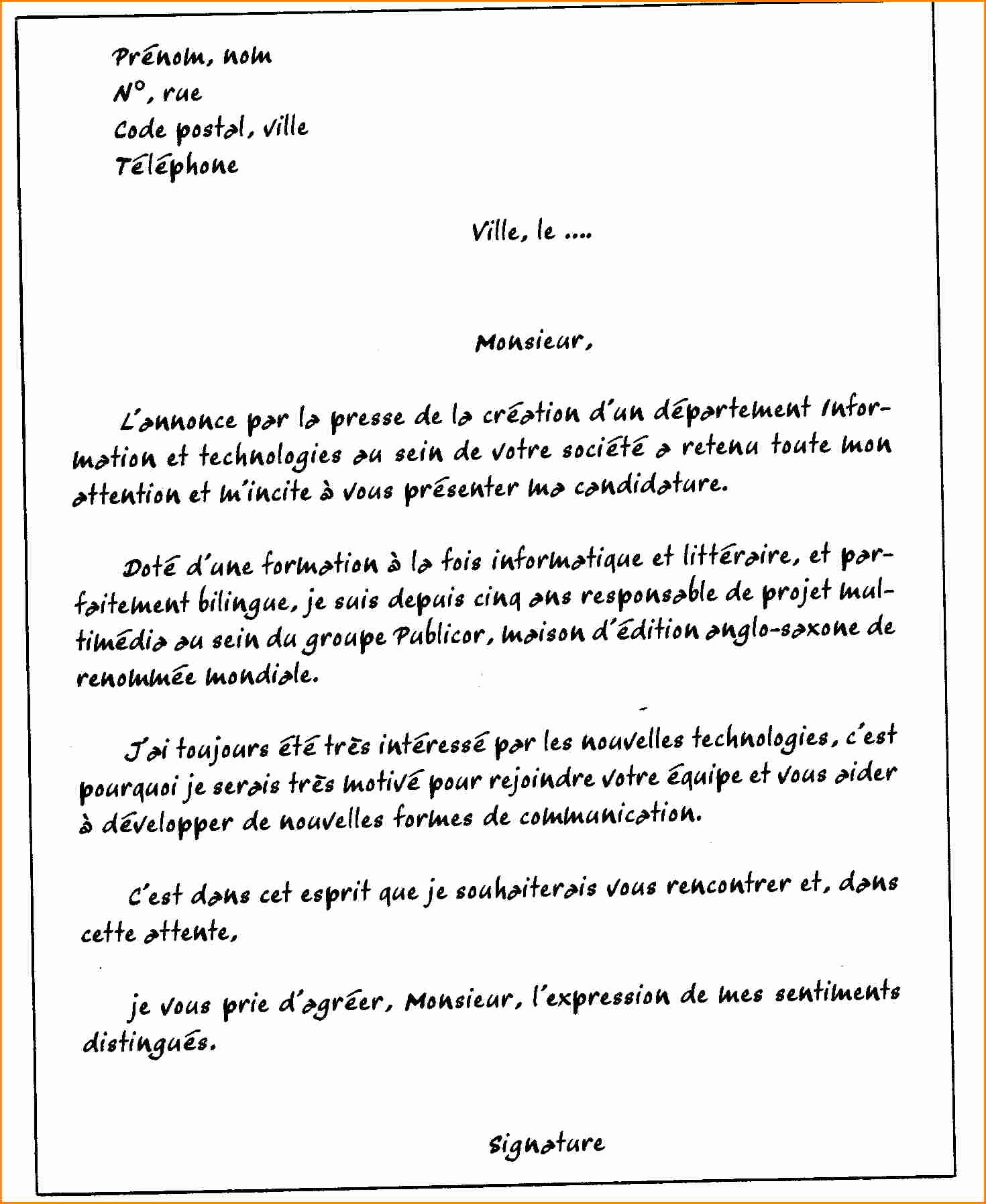 lettre de motivation commercial automobile
