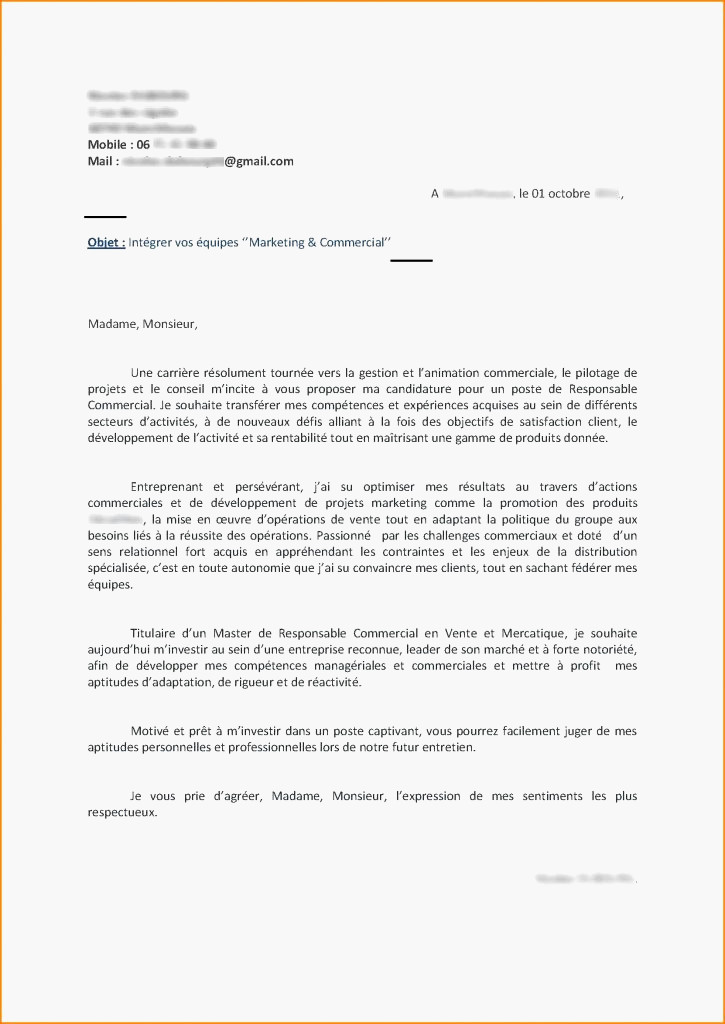 lettre de motivation animatrice commerciale