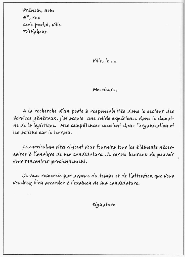 lettre de motivation mise en rayon auchan