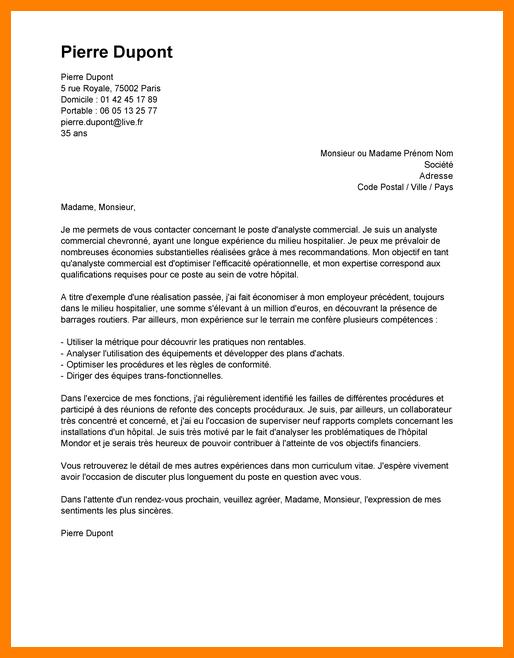 lettre de motivation assistante achat