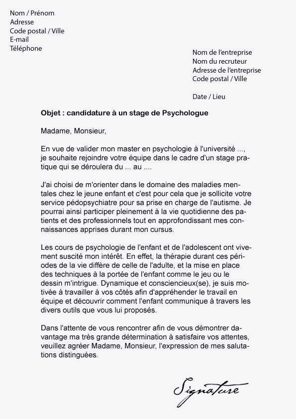 lettre de motivation stage assp ehpad