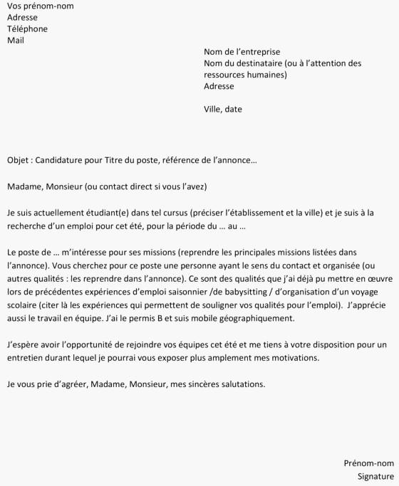 lettre de motivation alternance bac pro commerce