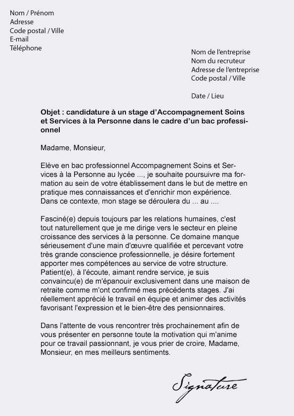 lettre de motivation lyc u00e9e professionnel bac pro commerce