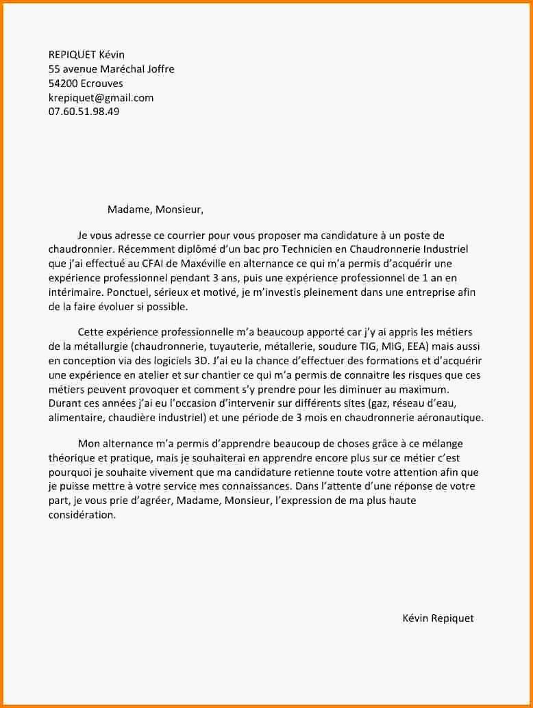 lettre de motivation pour un bts sp3s