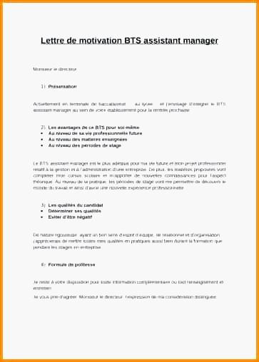 lettre de motivation assistant manager alternance