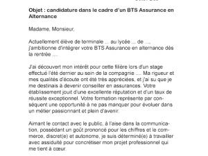 Exemple lettre de motivation bts banque