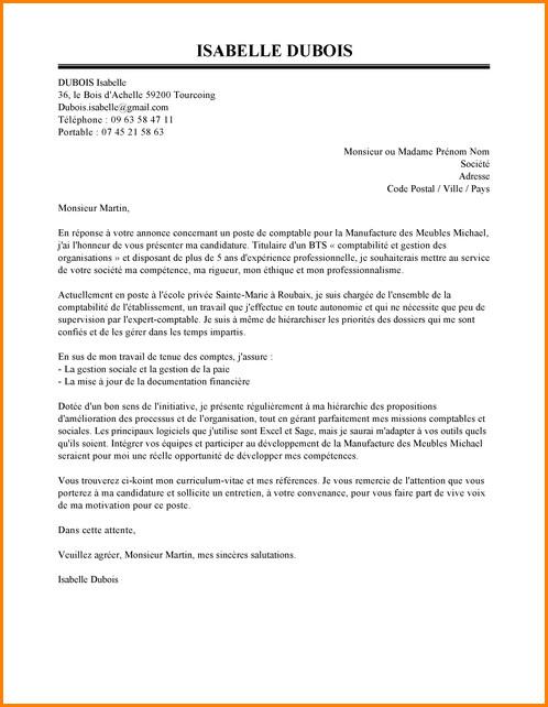 bts comptabilit u00e9 et gestion lettre de motivation