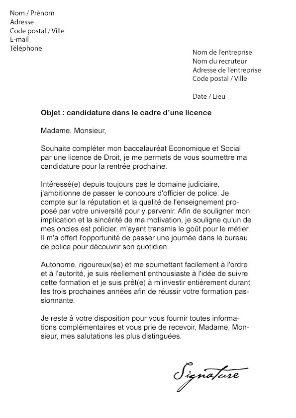 lettre de motivation candidature spontan u00e9e grande