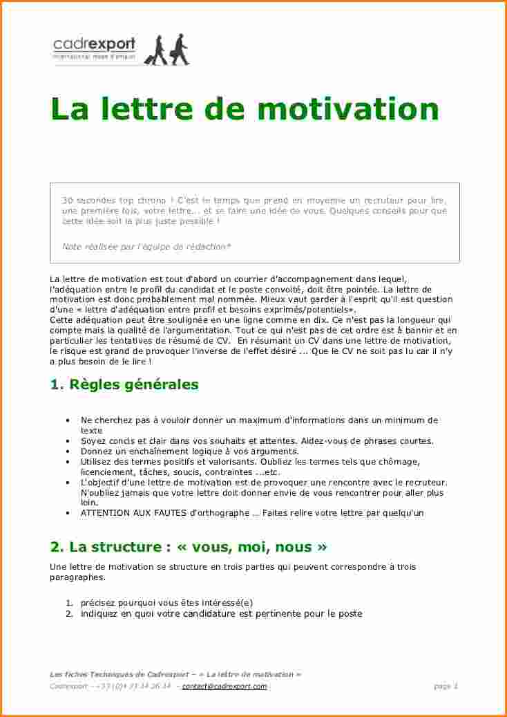 model lettre de motivation candidature spontan u00e9e