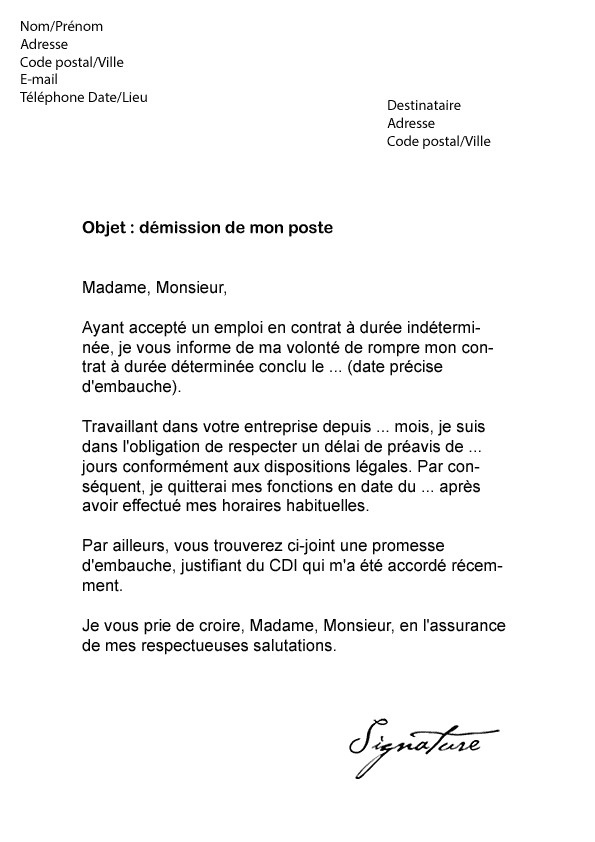 lettre de motivation cdd exemple