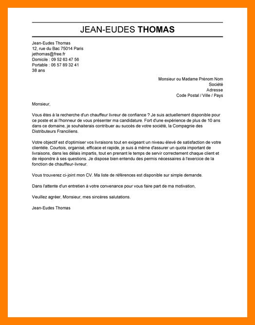 lettre de motivation formation chauffeur routier