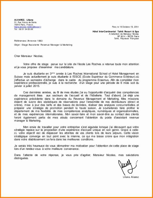 lettre de motivation francais  u00e9cole