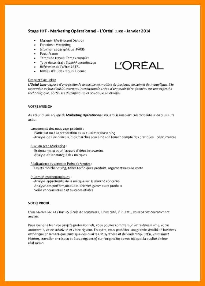 lettre de motivation l u0026 39 oreal