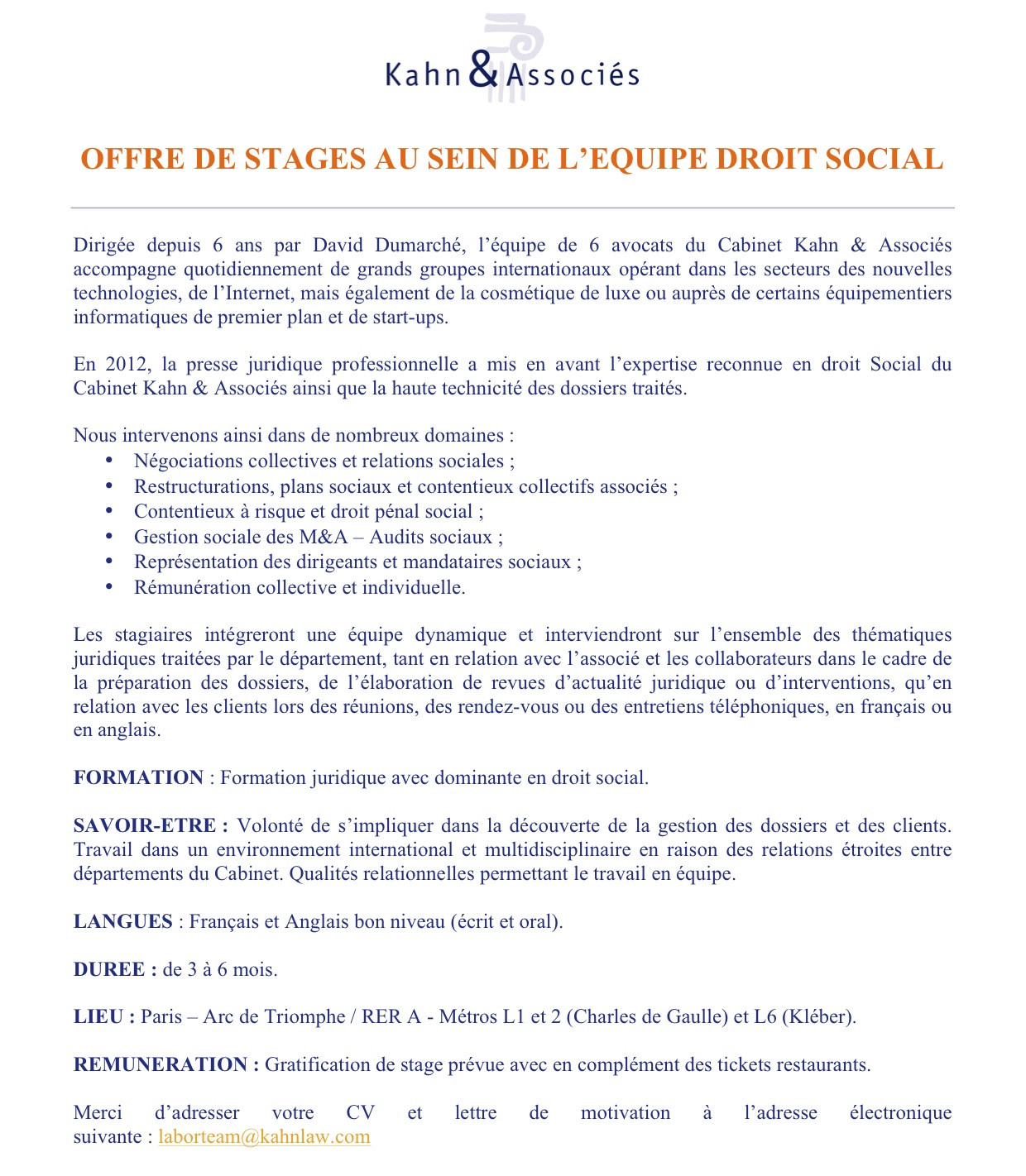 Lettre De Motivation Stage Consultant