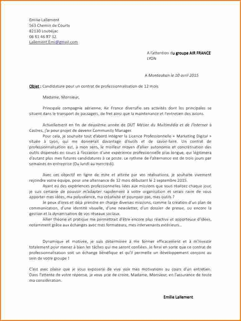 lettre de motivation contrat pro
