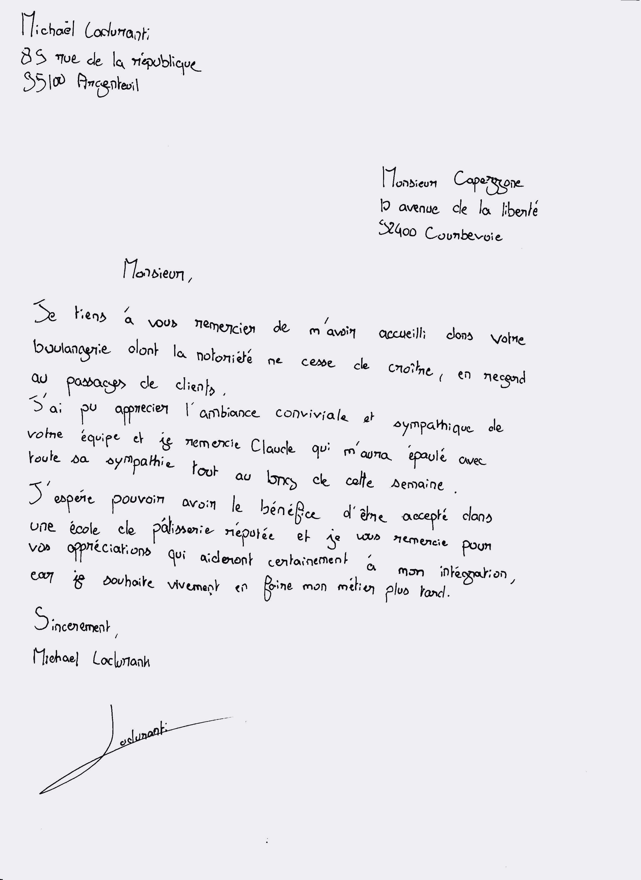 lettre de motivation douane
