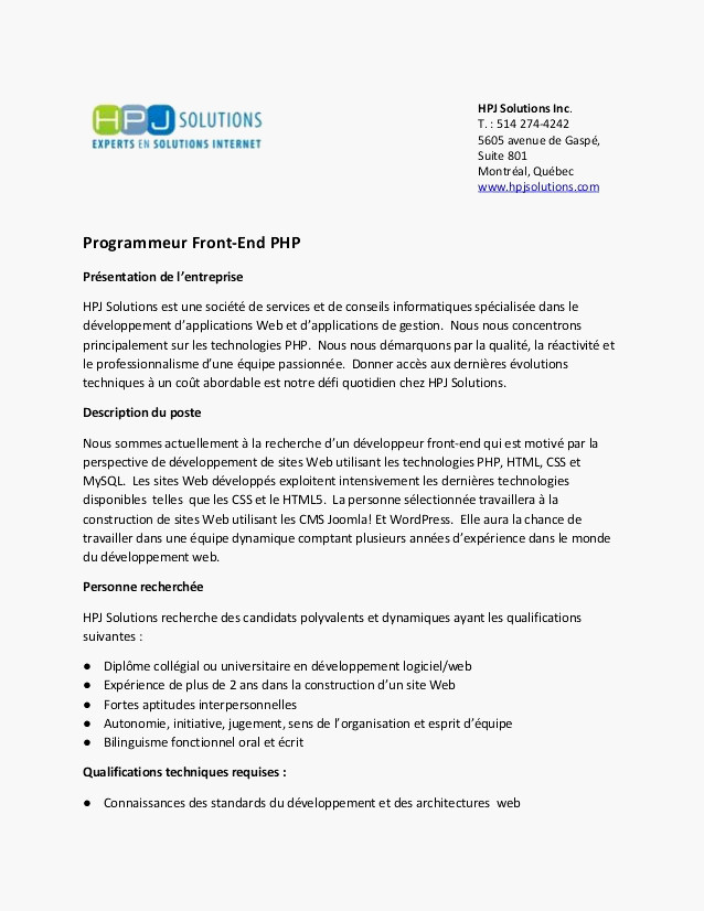 lettre de motivation dut production informatique