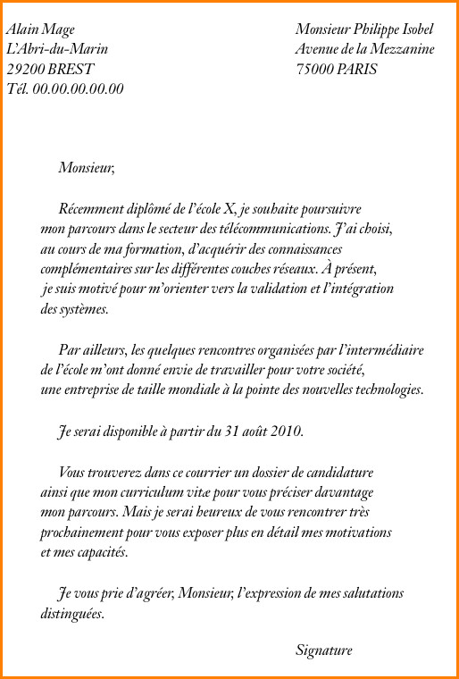 lettre de motivation  u00e9cole communication