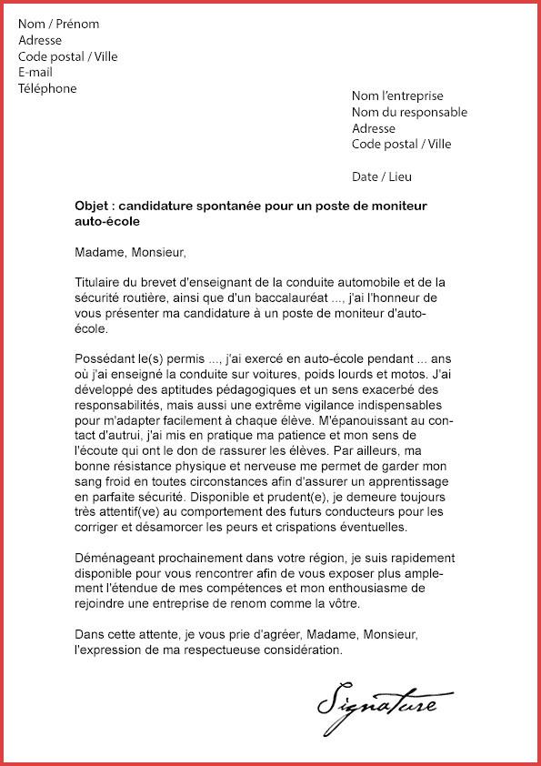 lettre de motivation moniteur auto  u00e9cole
