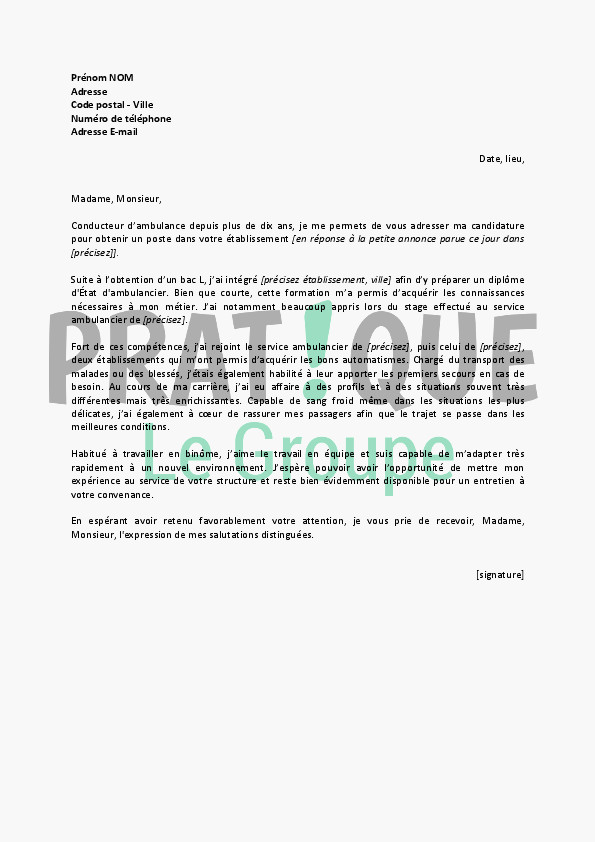 Lettre De Motivation Employe Polyvalent De Restauration Debutant