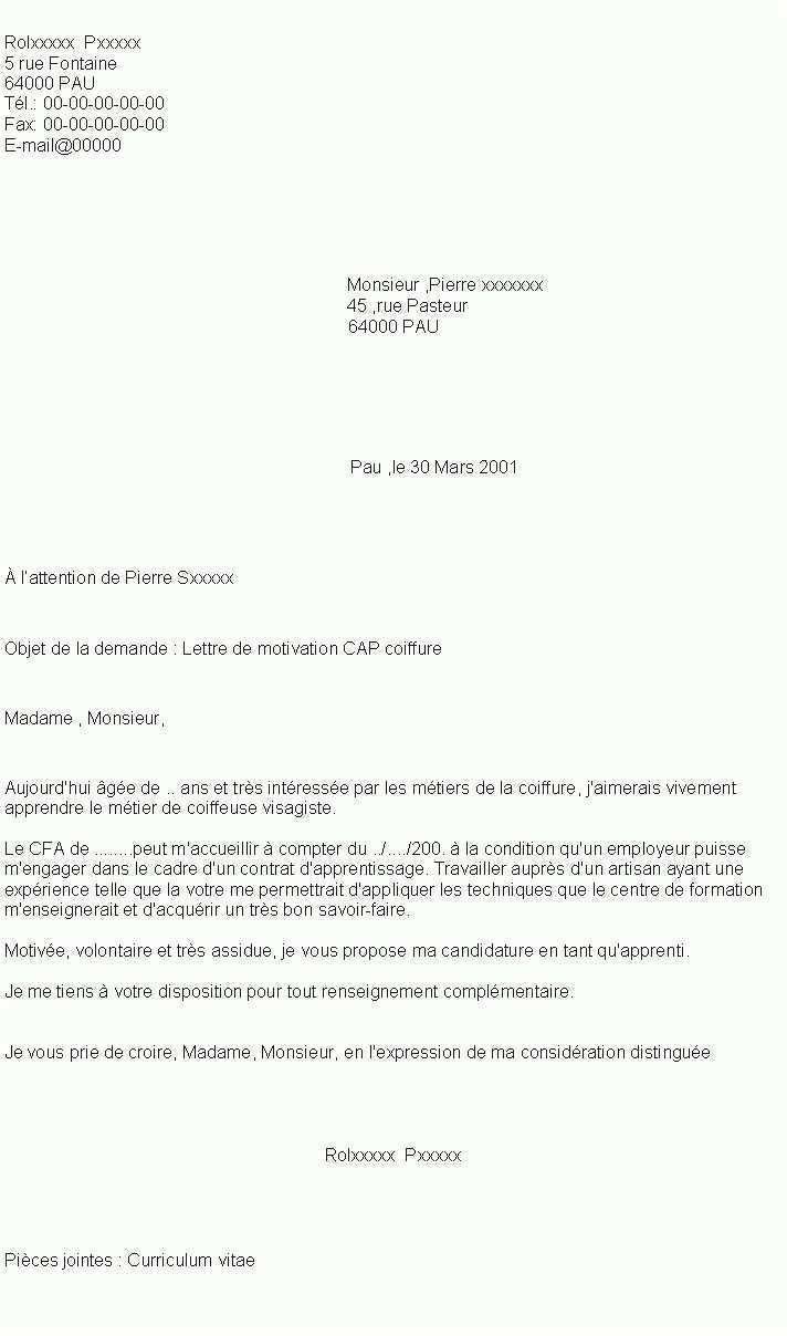 lettre de motivation pour une formation au greta
