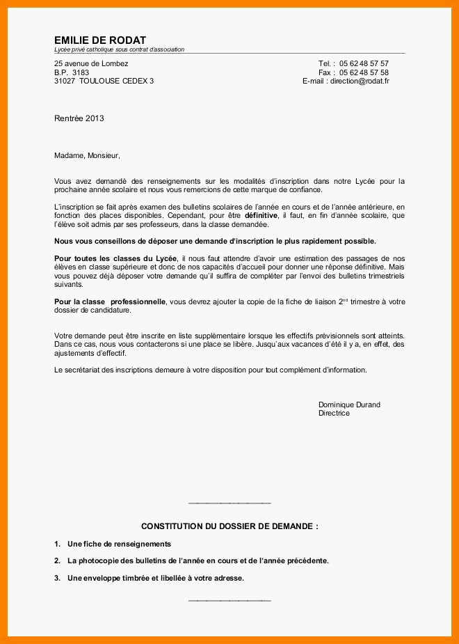 Lettre de motivation pré-accord enseignement catholique