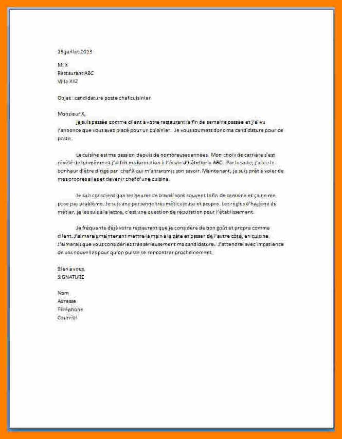 lettre de motivation pour travailler dans un fast food