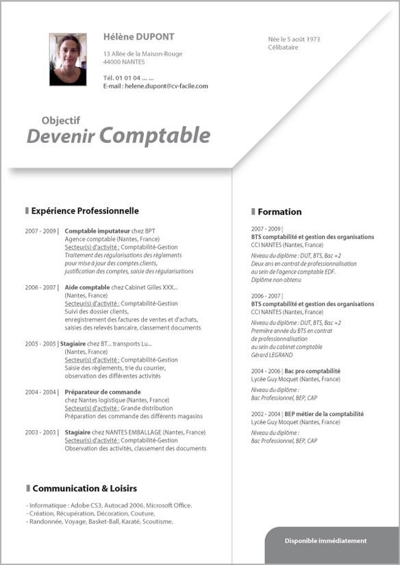 exemple de cv europass pour comptable