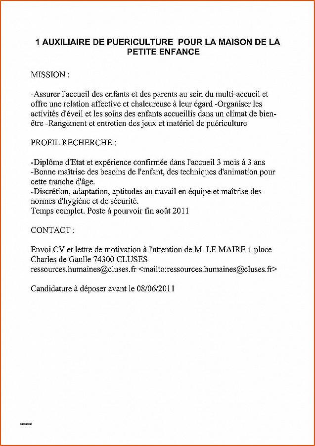 Lettre De Motivation Auxiliaire De Puericulture Debutant Laboite Cv Fr
