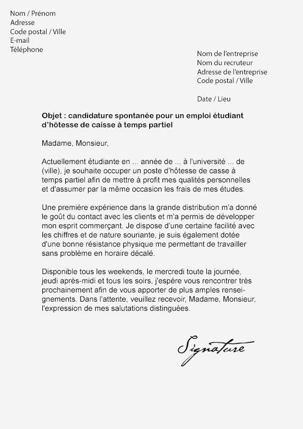 lettre de motivation job vacances