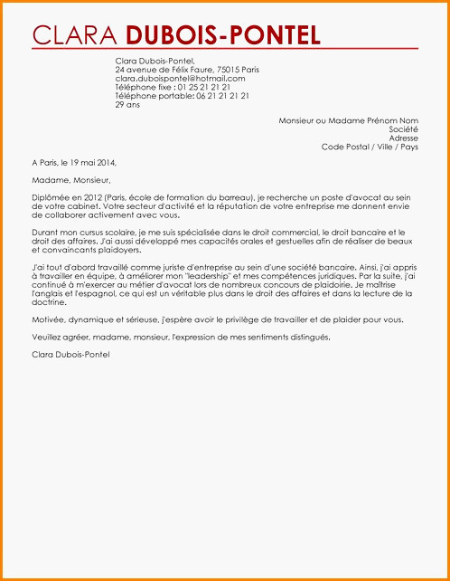 lettre de motivation juriste droit des affaires