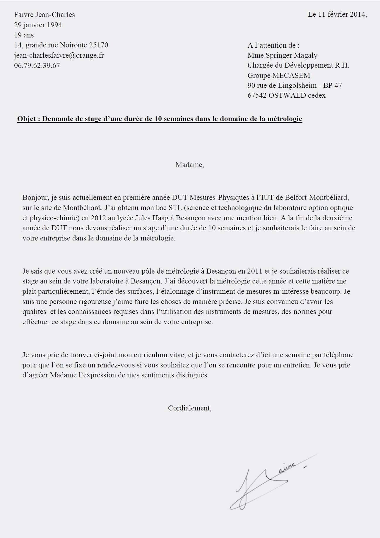 lettre de motivation licence cin u00e9ma et audiovisuel