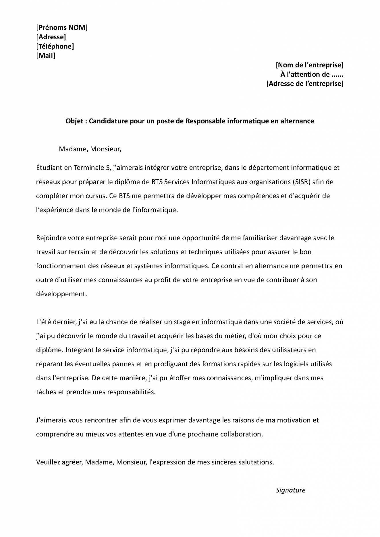 lettre de motivation restauration scolaire debutant