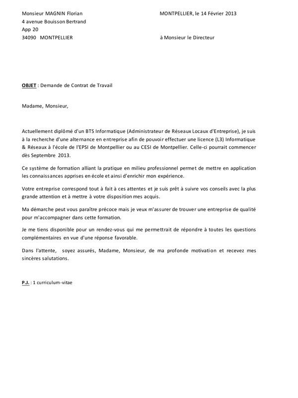lettre de motivation pour licence staps